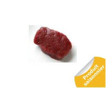 Steak de biche ( cerf )  5x200 gr (gigue)
